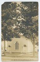 RPPC Methodist Church SHERBURNE NY Vintage Chenango County Real Photo Postcard