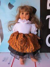"""Engel-Puppe 18"""" Doll Brown Hair Sleepy Eyes Friend of American Germany"""