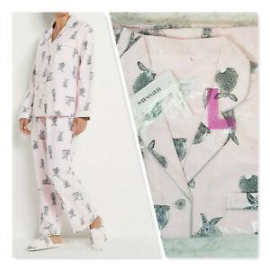 [ SUSSAN ] Womens Bunny Print Flannelette Pyjama  NEW | Size L