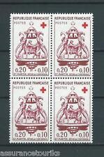 CROIX ROUGE - 1960 YT 1278 bloc de 4 - TIMBRES NEUFS** LUXE - COTE 16,00 €
