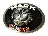 MACK TRUCKS Belt Buckle oval Antique Silver with enamel color Beautiful gift USA