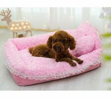 Princess Lace Pet Dog Cat Bed House Sofa Mat Cushion+PillowCover Removable S,M,L