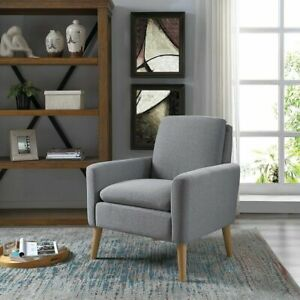Modern Accent Arm Club Chair Fabric Single Sofa Upholstered Seat Living Room