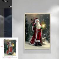 Xmas Home Decor Art Painting DIY Santa Claus Embroidery Cross Stitch Diamond 5D