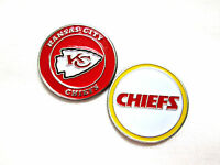 NFL Kansas City Chiefs Golf Ball Marker Enamel Metal Team Logo 2 Sided Hat