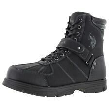 U.S. Polo Assn. Connor Men's Buckle Duck Toe Boots Black Size 11