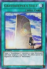 Gravekeeper's Stele 1st X 3 Lcjw Secret Rare Mint English  New yugioh Cards