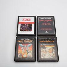 Lot Of 4 Video Games For Atari 2600 Yars Revenge Phoenix Super Breakout Space