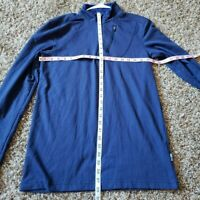 Swiss Tech Mens Size S Small Blue 1/4 ZIP Up Pull Over Long Sleeve EUC