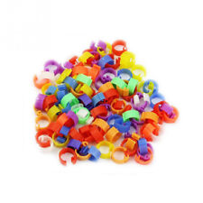 100Pcs Poultry Clip Rings for Dove Chicken Hen Pigeon Leg Bird Chicks Duck Parr