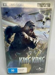 """SONY PLAYSTATION PSP UNIVERSAL """"KING KONG"""" 2 DISC UMD THEATRICAL MOVIE"""