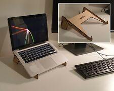 "Laptop Stand Riser, Mac Book Stand, 11"" to 17"" Laptops, Oak Veneer Wood"