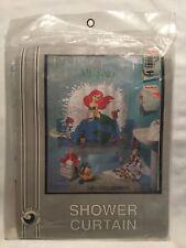 Vintage 1990s NEW Disney The Little Mermaid Shower Curtain Bathroom In Package