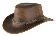 distress Leather Aussie Bush westren cowboy classic australian hat