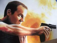 Jack Bauer 24 40x28 in Oil Painting. NOT print or poster Framing available.
