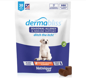 Vetnique Labs Dermabliss Seasonal Allergy Support for Dogs 30 Count - 02/23
