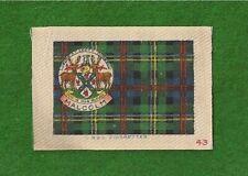 MALCOLM CLAN or MALCOM MACCALLUM TARTAN Coat of Arms 1922  printed silk Tartan