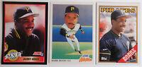 1988-91 Baseball Cards Barry Bonds Score Topps Lot of 3