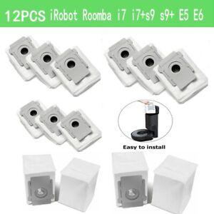 12pcs Vacuum Dust Bag Replacement for iRobot Roomba i7 i7+s9 s9+ E5 E6 Clean Bag