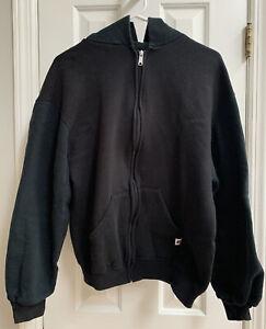 Russell Athletic Hooded Full-Zip Black Sweatshirt, Men's Large