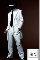 Really Rare and Really Nice White Black Stripe Long Zoot suit Tuxedo Tux TUXXMAN