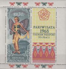 Indonesia 1968 Souvenir Sheet #739a Butterfly Dancer - MNH