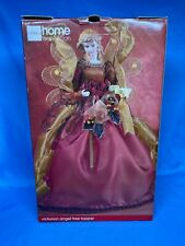 Uc Penney Gold Pink Lame Angel Christmas Tree Topper Victorian Ceramic Face Doll
