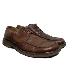 Johnston Murphy 9M Brown Made in Italy Leather Lace Up Dress Derby Shoes