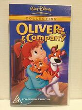 WALT DISNEY COLLECTION ~ OLIVER & AND COMPANY ~ AS NEW VHS VIDEO