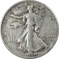 1940 Liberty Walking Half Dollar VF Very Fine 90% Silver 50c US Coin Collectible