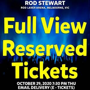 ROD STEWART | MELBOURNE | FULL VIEW RESERVED TICKETS | THU 29 OCT 2020