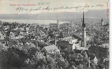 POLYTERCHNIKUM SCHOOL ZURICH SWITZERLAND TO USA TOWN VIEW POSTCARD 1907
