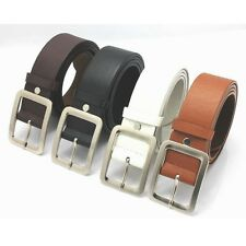 Men's Genuine Leather Dress Belt Casual Pin Buckle Waist Strap Belts Waistband