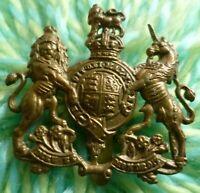 British Army General Service Corps Cap Badge Brass Slider ANTIQUE Original