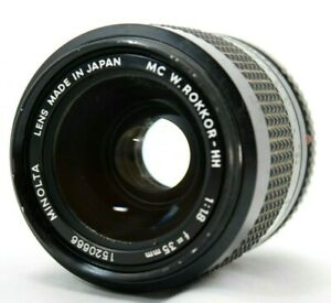 *Rare* Minolta MC W.Rokkor-HH 1:1.8 35mm Lens *As Is* #Mi014c