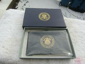 Vice Presidential George HW Bush  business card holder Gift box from estate