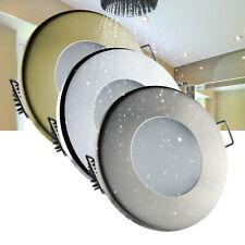 LED Einbaustrahler Feuchtraum Einbaurahmen für Dusche Bad Vordach IP44 GU10 230V