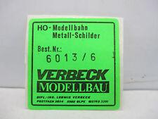 VERBECKMODELLBAU H0 6013/6 Messingschilder 80 Kassel 4 Stück siehe Foto  WT4114