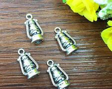 5pcs Oil lamps Tibetan Silver Bead charms Pendants DIY jewelry 20x10mm