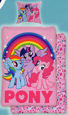 Bettwäsche My little Pony - Regenbogen - 135x 200cm + 80x 80cm - Baumwolle rosa