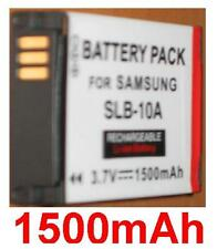 Batterie 1500mAh type SLB-10A SLB10A Pour Samsung WB800F