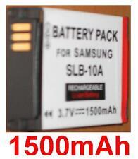 Batterie 1500mAh type SLB-10A SLB10A Pour Samsung WB800F