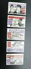 US - COMEDIANS #2562-2566 Complete Used Set 1991 Commemorative 29c Stamp Set