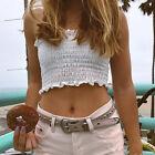 Sexy Women Summer Loose Casual Blouse T-shirt Off Shoulder Crop Wrap Tops Shirts