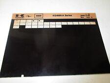 Kawasaki KG4000 - A Series Parts List Micro Fiche