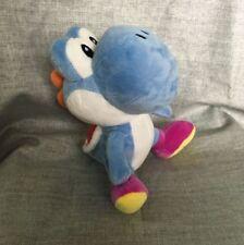 Super Mario Bros. deep blue Yoshi Plush Stuffed Animal Nintendo Authentic Doll