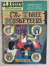 CLASSICS ILLUSTRATED~Three Musketeers~ALEXANDRE DUMAS~Comic Book~
