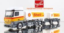 H0-1:87 Herpa 310437 Mercedes-Benz Actros StreamSpace Benzintank-Hängerzug Shell