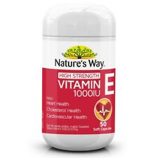 Nature's Way High Strength Vitamin E 1000IU 50 Soft Capsules Natures Way