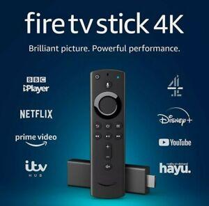 ** VERSIEGELT ** Amazon Fire TV Stick 4k Ultra HD Alexa Stimme ferngesteuertes Streaming Media